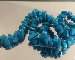 HOWLITE BEAD STRAND 15 INCH TURQUOISE COLOR BEAD STRAND