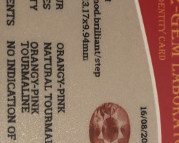 No indication of heat on the cert card.   Very special color for tourmaline.   Sought after color in many different types of stones like spinel and sapphire.