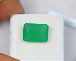 6.97Ct Green Onyx Octagon Cut Lot V2226