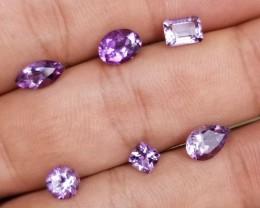 6 Pcs AMETHYST NATURAL Untreated Gemstones All ShapesVA-203