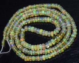16 Inches Ethiopian Opal Beads Natural Welo Play Of Color OB220