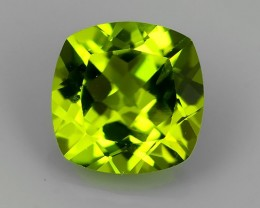 2.40 Cts.Magnificient Top Sparkling Intense Green-Cushion NR!!!