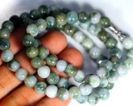 253.0Ct Genuine Burmese Type-A Jadeite Jade Necklace