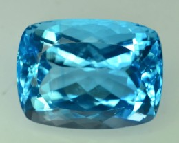 56.60 Ct Brilliant Color Natural Blue Swiss ~ Topaz