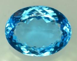 55.30 Ct Brilliant Color Natural Blue Swiss ~ Topaz