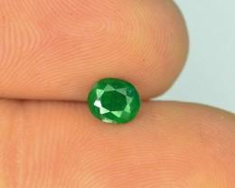 0.40 ct Natural Vivid Green Color Emerald~Swat T