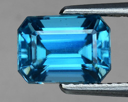 3.28 Cts Blue Zircon Awesome Color ~ Cambodia  Z1