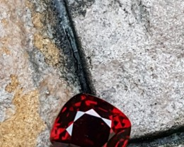 UNTREATED 2.01 CTS STUNNING VVS ANTIQUE CUSHION RED SPINEL BURMA