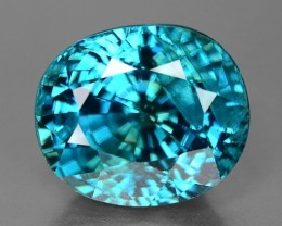 GIL Certified 11.34 Cts Blue Zircon Awesome Color ~ Cambodia