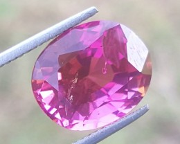 8 carats Lustrous Rubellite  colour Tourmaline Gemstone From Afghanistan
