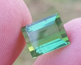 3 carats Transparent Green color Tourmaline Gemstone From