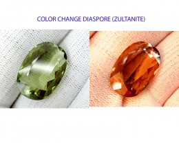 CRTIFIED 17CT DIASPORE ONE OF THE BEST GEMS COLOR CHANGE