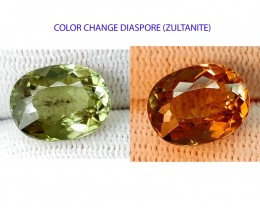 CRTIFIED 7.24CT DIASPORE ONE OF THE BEST GEMS COLOR CHANGE