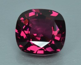 4.59 Cts Attractive Beautiful Color Natural Rhodolite Garnet No Reserve