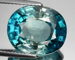 11.32 Cts Natural Sparkling Blue Zircon Oval Cut Cambodia