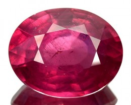 ~LOVELY~ 9.03 Cts Pinkish Red Ruby Composite Oval Cut Mozambique