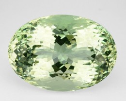 ~UNHEATED~ 34.65 Cts Natural Mint Green Beryl (Aquamarine) Oval Brazil