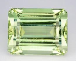 ~UNHEATED~ 29.16 Cts Natural Mint Green Beryl (Aquamarine) Octagon Brazil