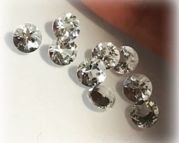 9 PC PARCEL OF TOP JEWELLERY GRADE TOPAZ GEMS VVS 5.0MM