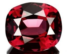 15.01 Cts Natural Pinkish Red Rhodolite Garnet Cushion Cut Mozambique