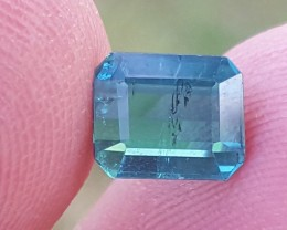 1.20 carats ink blue color Tourmaline Gemstone