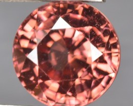 6.05 Cts Natural Brownish Pink Zircon Round Cut Tanzania