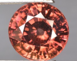 5.41 Cts Natural Brownish Pink Zircon Round Cut Tanzania
