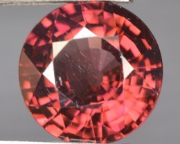 5.79 Cts Natural Brownish Pink Zircon Round Cut Tanzania