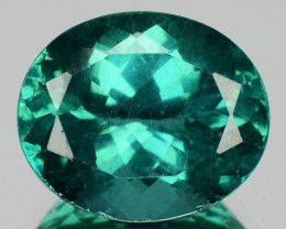 5.79 Cts Natural Apatite - Paraiba Blue Green Oval Cut Brazil
