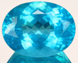 ~BEAUTIFUL~ 12.66 Cts Natural Apatite - Paraiba Blue - Oval - Brazil