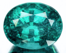 11.99 Cts Natural Bluish Green Apatite Oval Cut Brazil