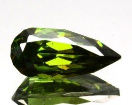 ~ULTRA RARE~ 0.94 Cts Natural Sparkling Green Sphalerite Pear Cut Bulgaria