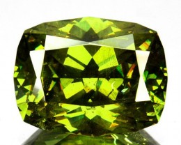 ~ULTRA RARE~ 4.32 Cts Natural Sparkling Green Sphalerite Cushion Cut Bulgar