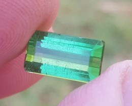 3.50 carats Transparent Green color Tourmaline Gemstone