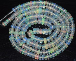 16 Inches Ethiopian Opal Beads Natural Welo Play Of Color OA ATHYAVEES