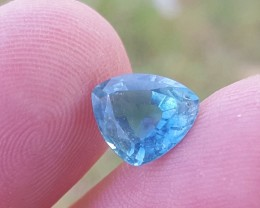 2.50 carats ink blue Trillion cut color Tourmaline Gemstone