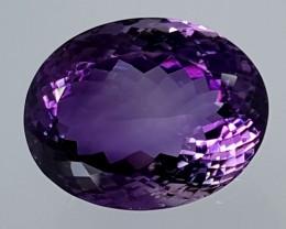 33Crt Natural Amethyst  Best Grade Gemstones JI28