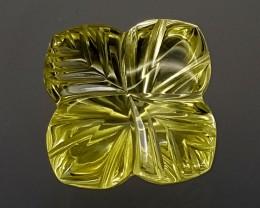 24Crt Lemon Quartz Special Cut  Best Grade Gemstones JI28