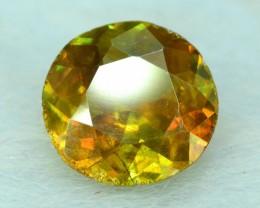 NR~  1.20 ct Round Cut Shape Full Fire Sphene titanite From Skrdu Paksitan