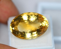 34.61ct Yellow Citrine Oval Cut Lot V2244