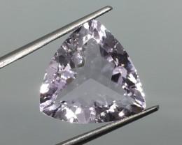 8.85 Carat VVS Amethyst Solft Lavender Trillion - Super Clean Brilliance !