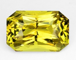 ~PRINCESS~ 4.48 Cts Natural Chrysoberyl Greenish Yellow Octagon Sri Lanka