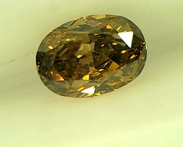 0.26cts  Fancy Deep greenish Brown Diamond , 100% Natural Untreated