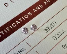 2 = 0.40ct 8P P1 Certified Argyle Pink Diamonds