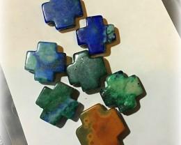 Private 7 Jasper Chrysocolla Cross Beads