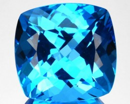 ~SWISS BLUE~ 8.90 Cts Natural Topaz Cushion Cut Brazil