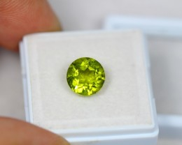 3.08ct Green Peridot Round Cut Lot V2247