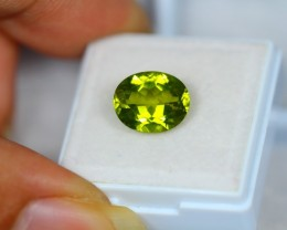 4.18ct Green Peridot Oval Cut Lot V2268