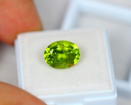 4.91Ct Green Peridot Oval Cut Lot Z51