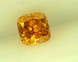 0.20cts  Fancy Vivid Orange Diamond , 100% Natural Untreated